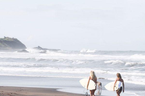 Mandla Walking to Surf