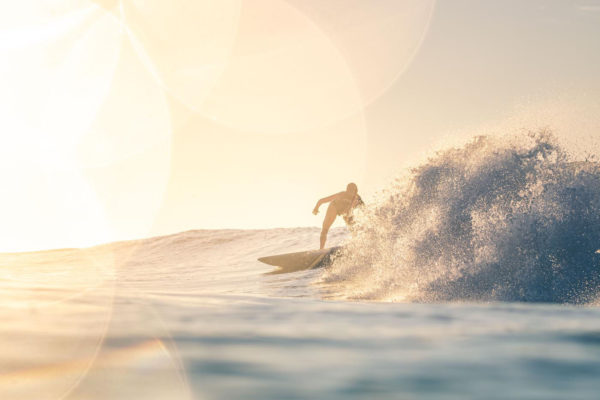 Surfing into the sun - Guatemala
